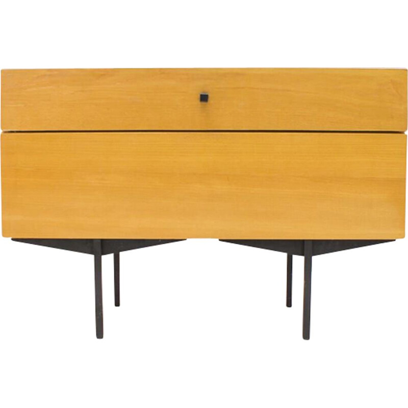 Vintage german chest of drawers by Karl Ohr in wood and metal 1960s