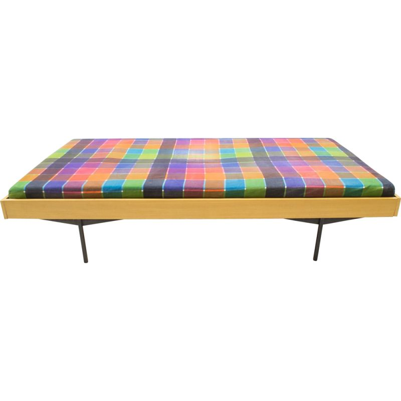Vintage german daybed for Karl Ohr in metal and wood 1960s