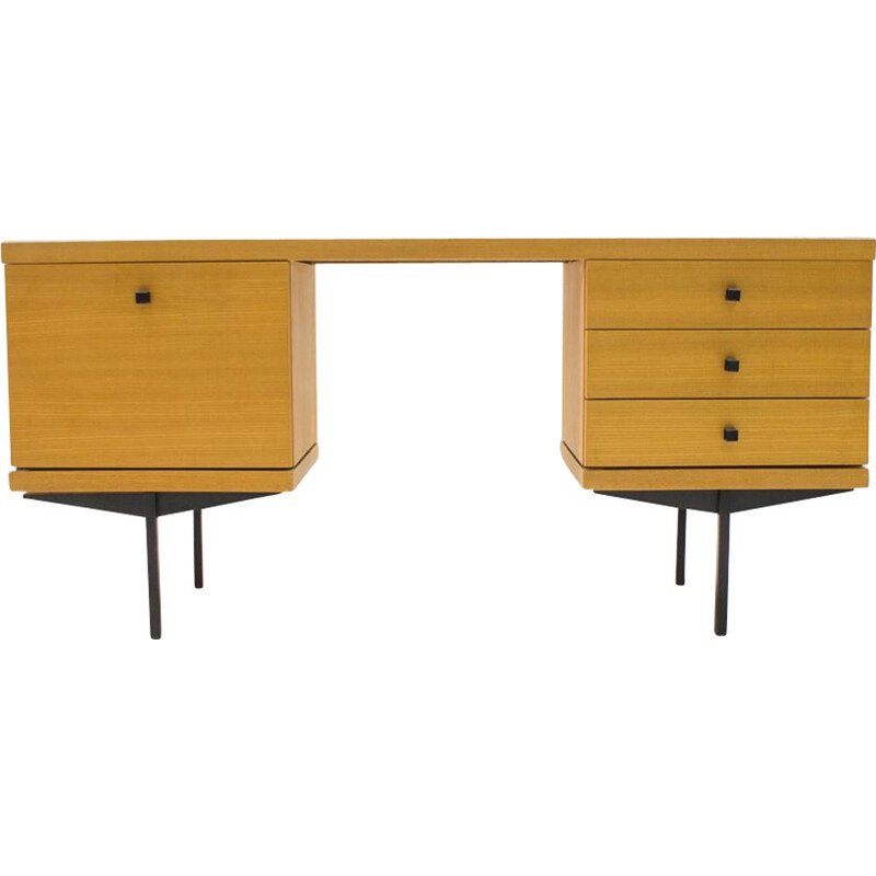 Vintage dressing table by Karl Ohr in wood and metal 1960s