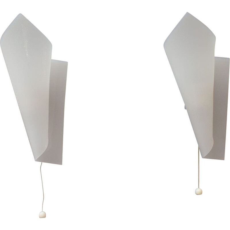 Set of 2 vintage plexiglas wall lamps by Hanns Hoffmann-Lederer for Heinz Hecht