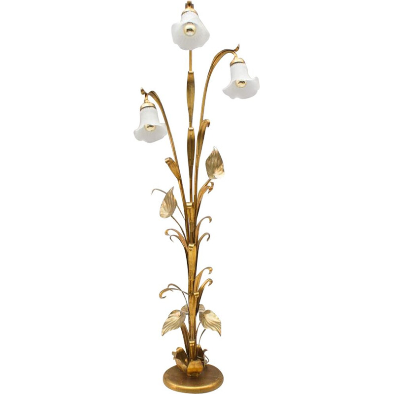 Vintage gold tree floor lamp