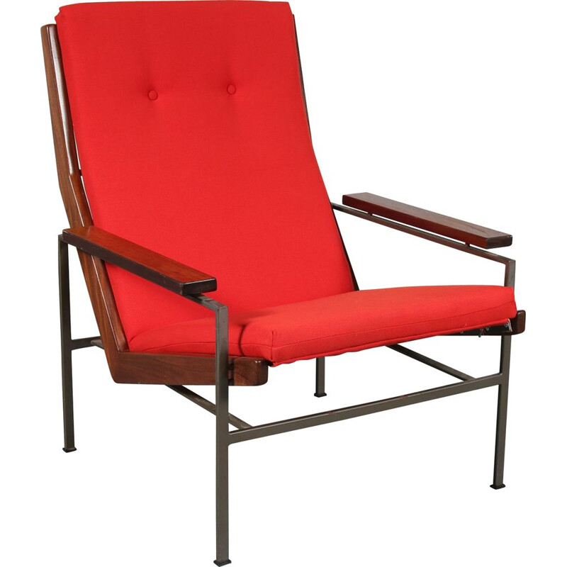 Vintage Dutch modernist lounge chair by Rob Parry