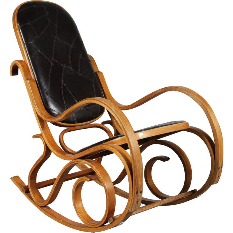 Vintage plywood rocking chair by Luigi Crassevig by Crassevig in Italy