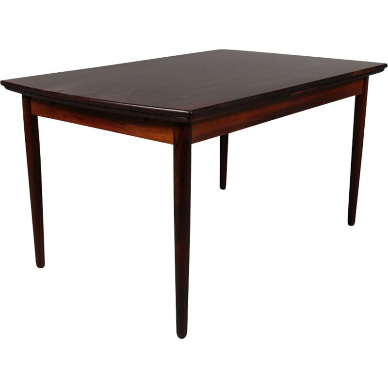 Vintage rosewooden extendible dining table in Denmark