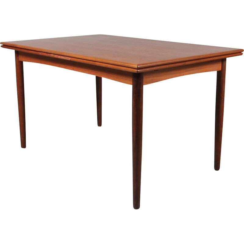 Vintage teak extendible dining table by N&R Mobler in Denmark