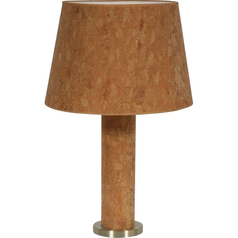 Vintage cork table lamp by Ingo Maurer by M Design