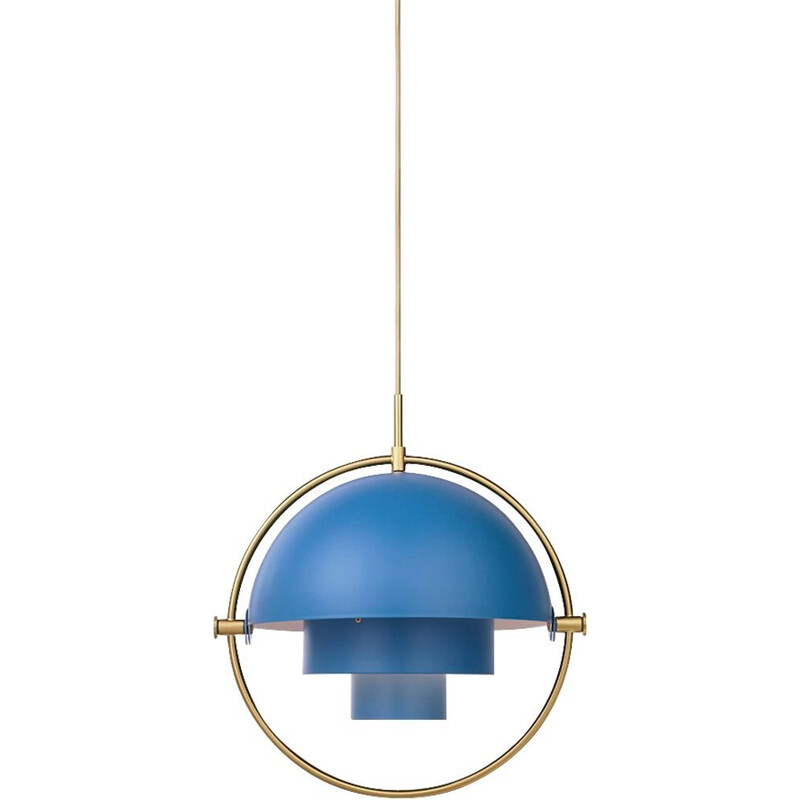 """Multi-Lite"" pendant lamp, Louis Weisdorf for GUBI, brass version"