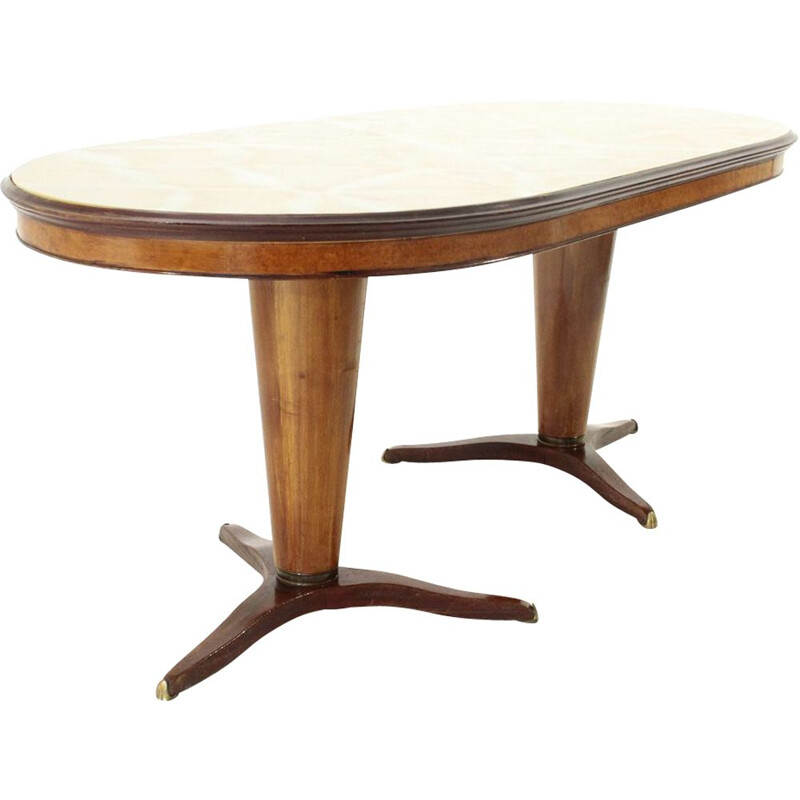 Vintage oval Italian dining table