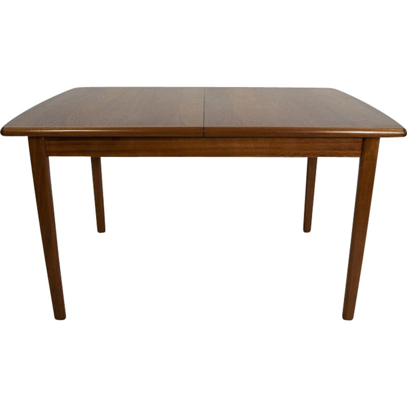 Vintage extendable dining table in teak