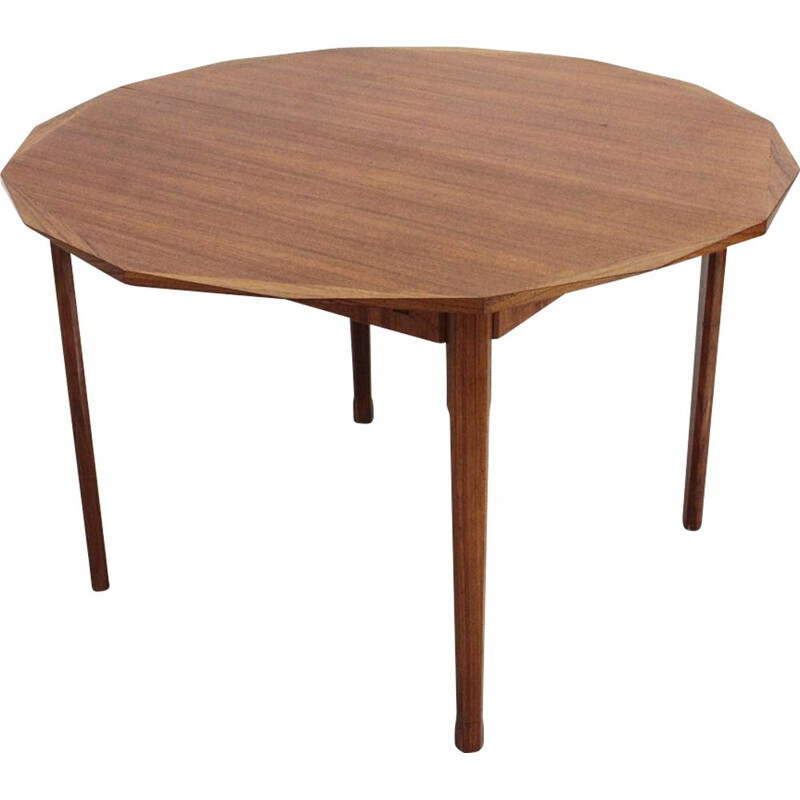 Vintage wooden round dining table by Tredici
