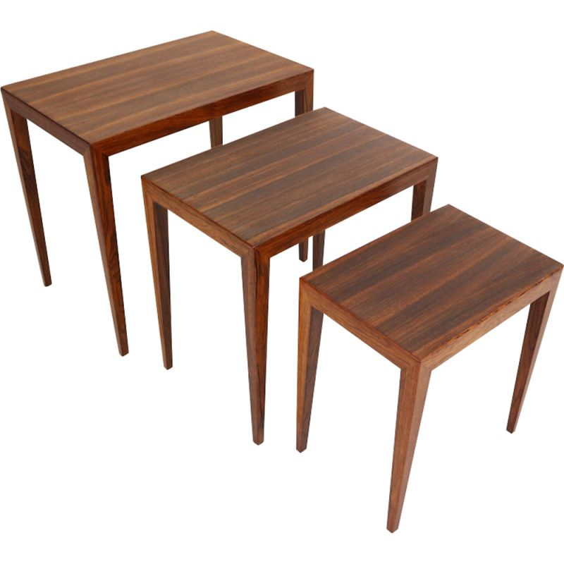 Vintage nesting tables for Haslev in rosewood 1960