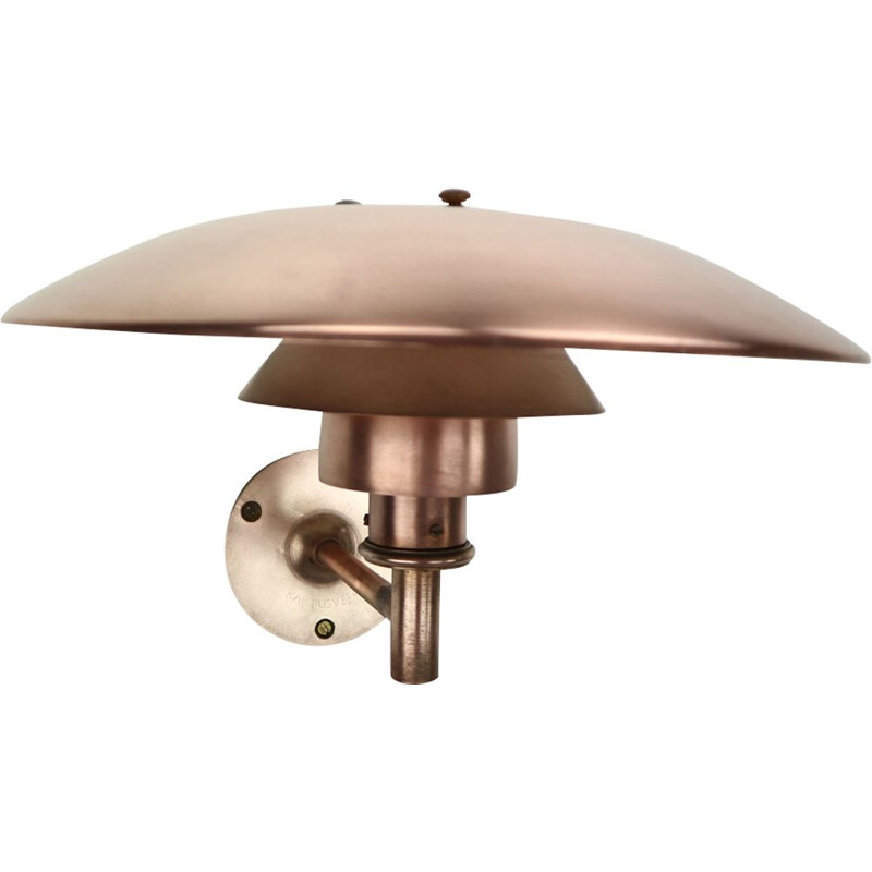 Vintage scandinavian sconce PH 4.53 for Louis Poulsen in copper 1960