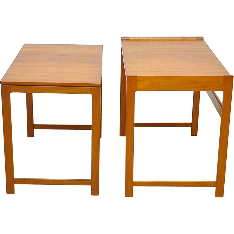 Vintage danish 2 nesting tables in teakwood 1960s