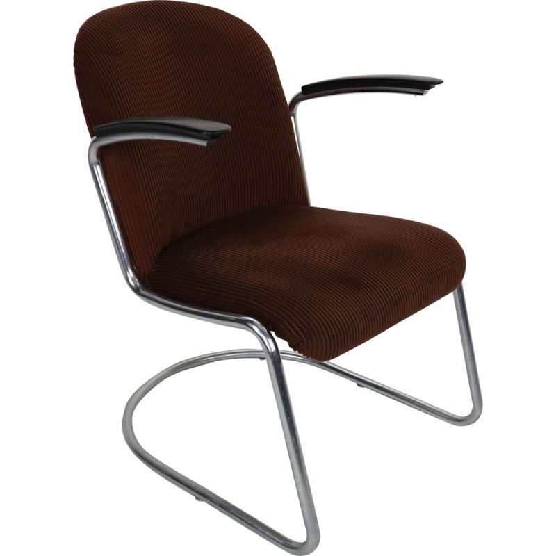 Vintage lounge chair W.H. Gispen by Gispen Culemborg, M-413, 1953