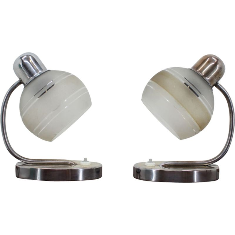 Set of two vintage table lamp, Napako, 1970