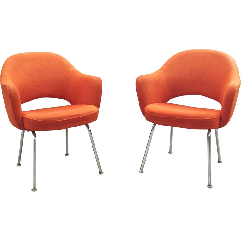 Pair of Conference chairs by Eero Saarinen for Knoll