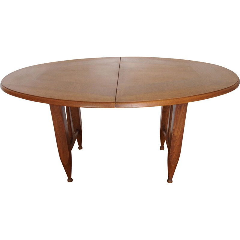 Vintage dining table Guillerme and Chambron