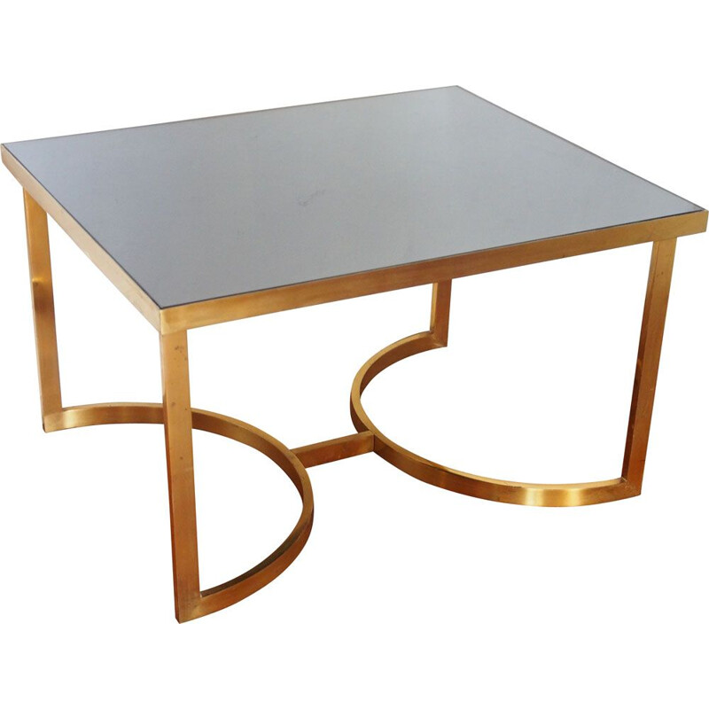 Vintage 1970 brass coffee table