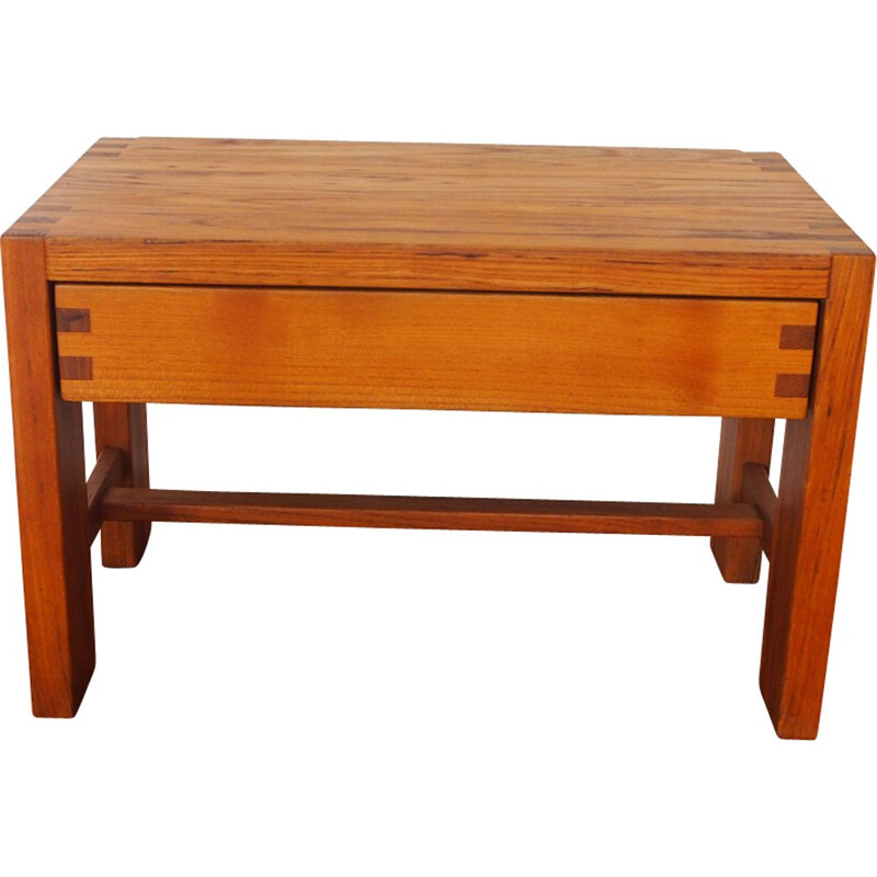 Vintage Pierre Chapo elm coffee table