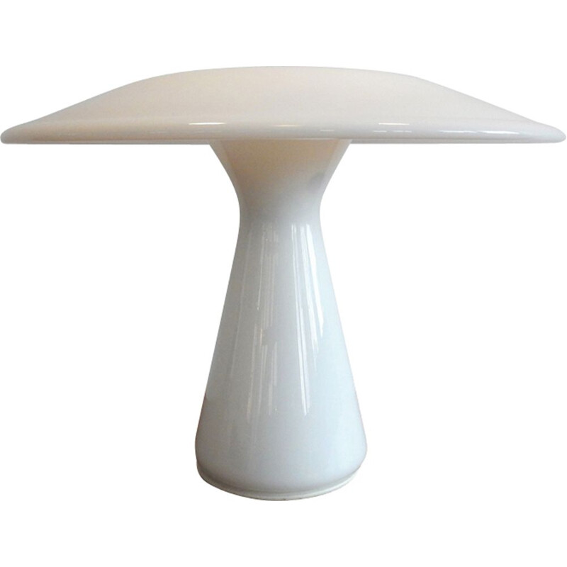 Vintage White Phoenix table lamp by Sidse Werner for Holmegaard, Denmark 1980