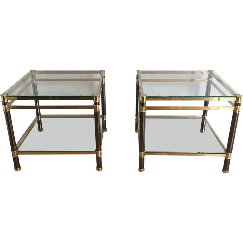 2 vintage side tables,1970