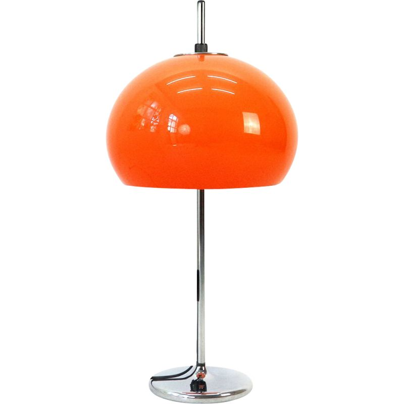 Vintage table lamp with height-adjustable lampshade,1970