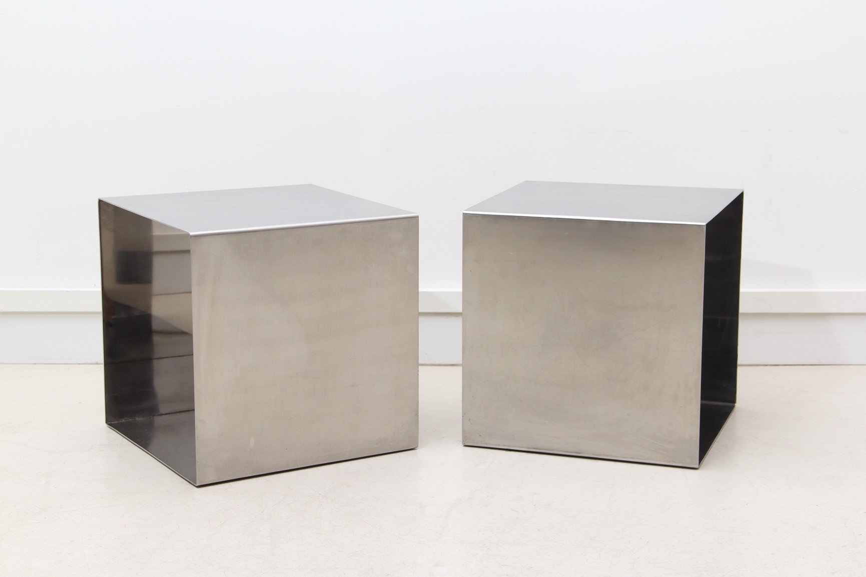 Pair of vintage danish rosewood and brushed steel side cabinets ref - Previous Next Sold Reference