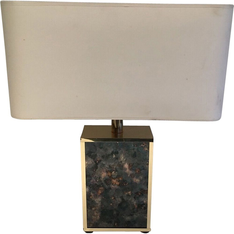 Vintage gold metal lamp 1970