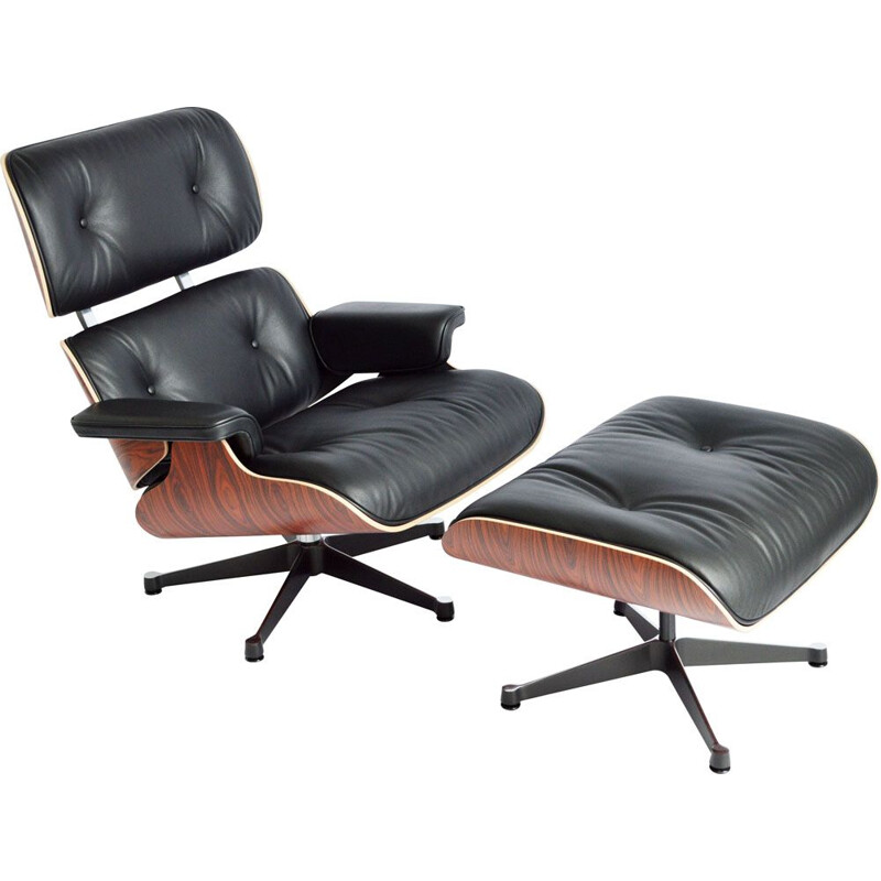 Vintage armchair & ottoman by Eames for vitra
