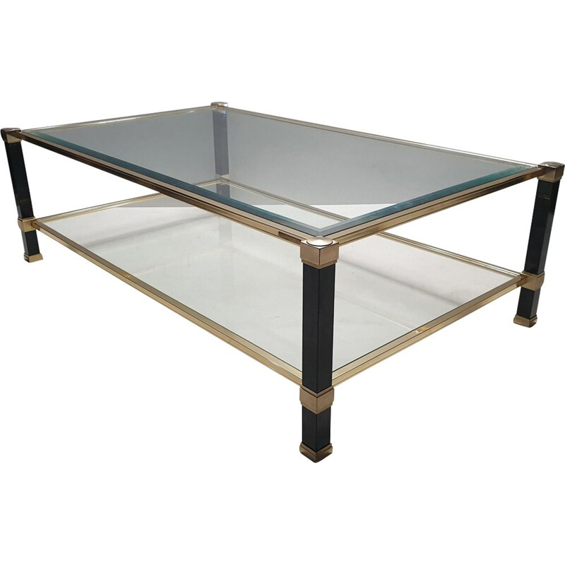 Vintage brass coffee table by Pierre Vandel 1980s