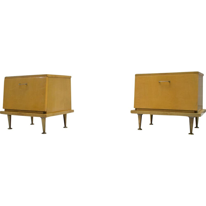 Set of 2 vintage night stands, 1950s