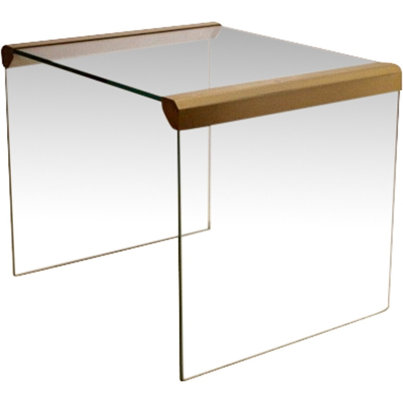 Gallotti & Radice brass and glass side table, Pierangelo GALLOTTI - 1970s