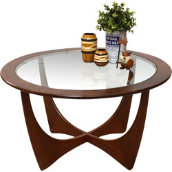 Gplan Astro coffee table in teak and glass, Victor WILKINS - 1960s
