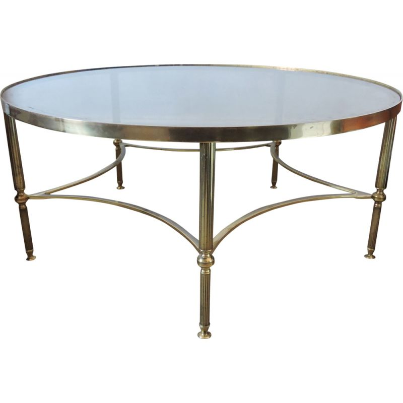 Vintage coffee table with brass details,1950