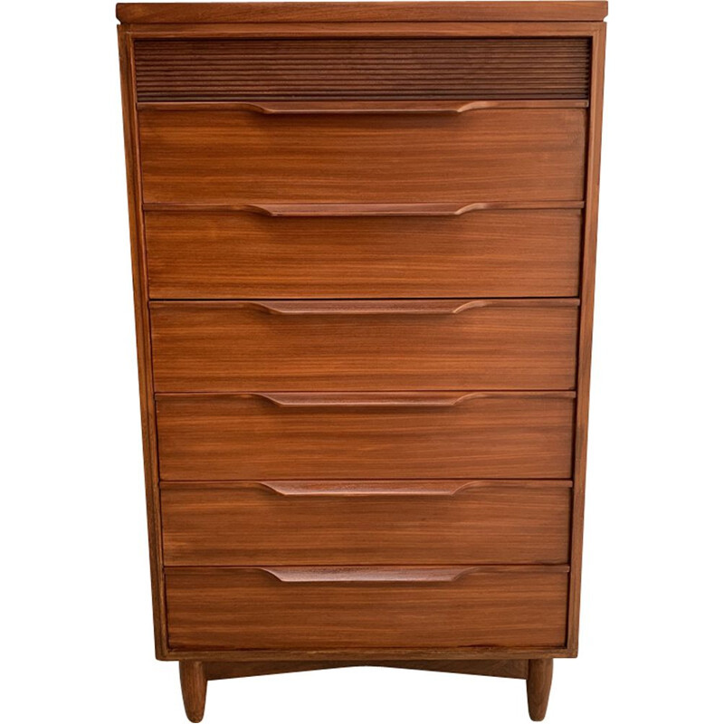 Vintage teak chest of drawers 1960s