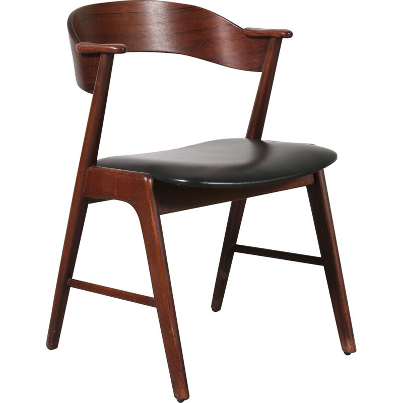 Vintage rosewood dinning chair by Kai Kristiansen for Korup 1950