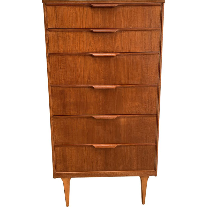 Vintage teak chest of drawers by Frank Guille 1960s