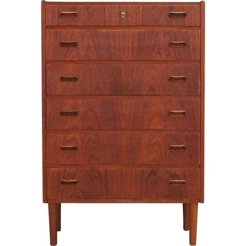 Vintage teak chest of drawers 1970