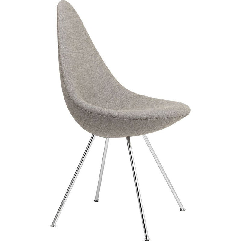 """Drop"" chair in fabric by Arne Jacobsen for FRITZ HANSEN"
