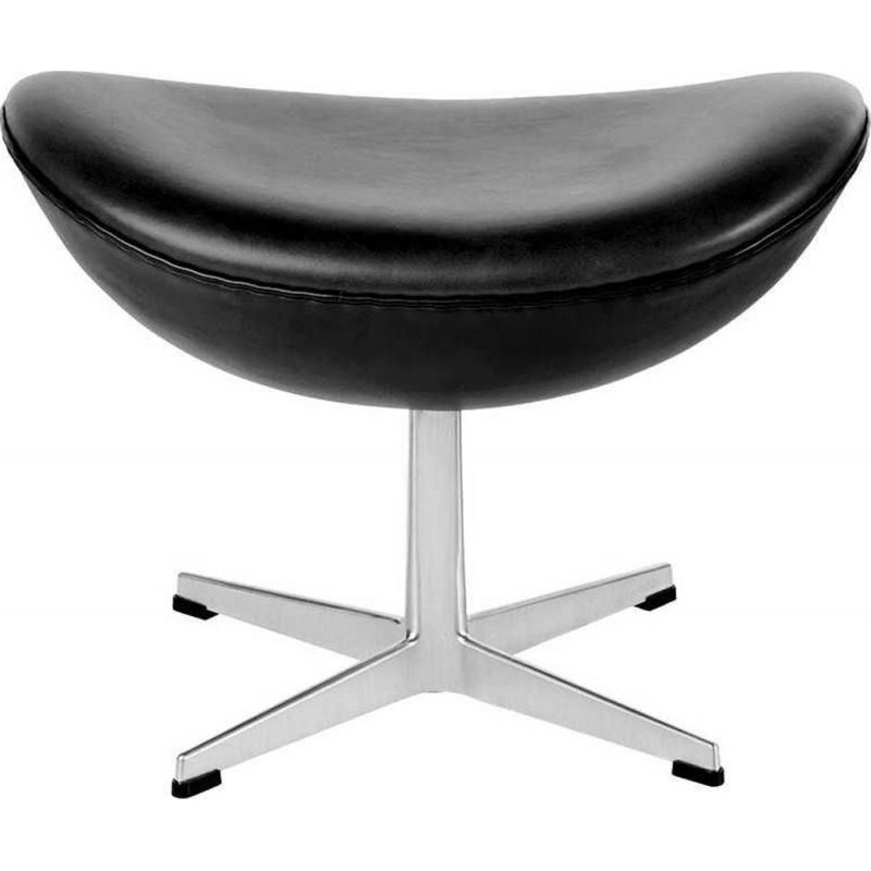 """Egg"" leather foot stool by Arne Jacobsen for FRITZ HANSEN"