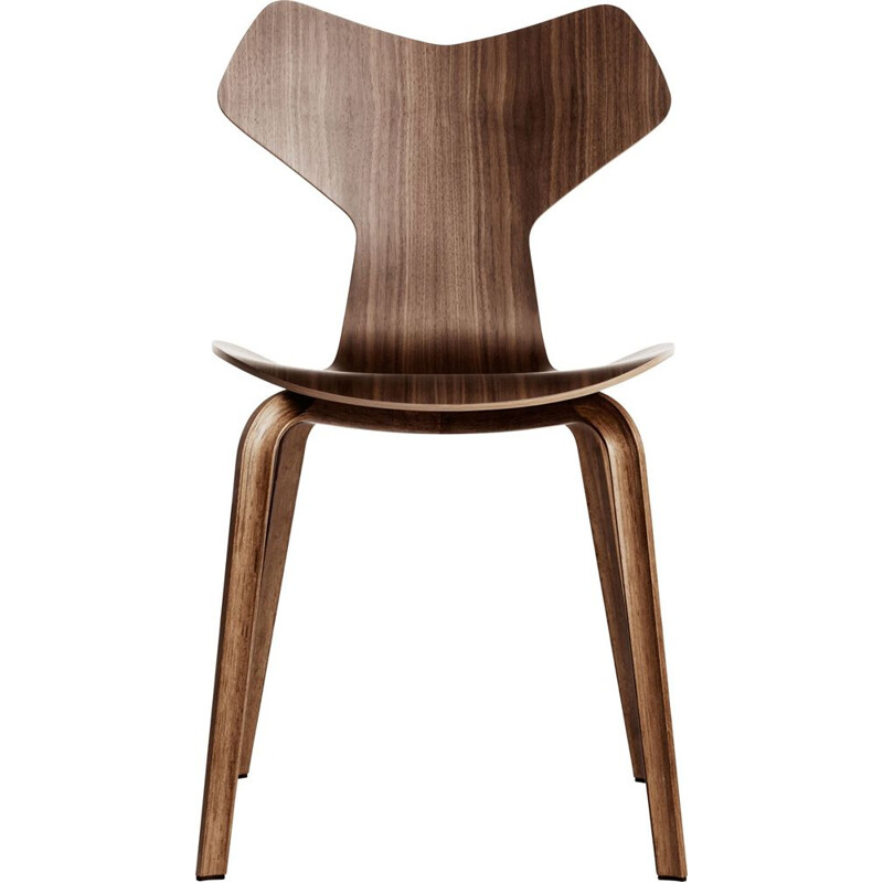 """Grand Prix"" chair with wooden base by Arne Jacobsen for FRITZ HANSEN"