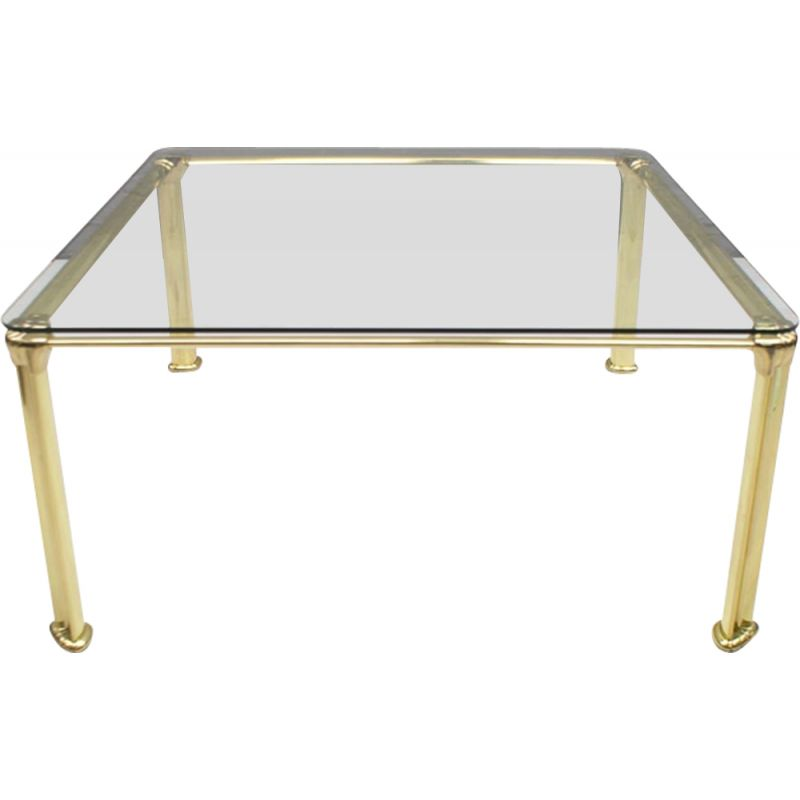 Vintage glass coffee table from the 70s