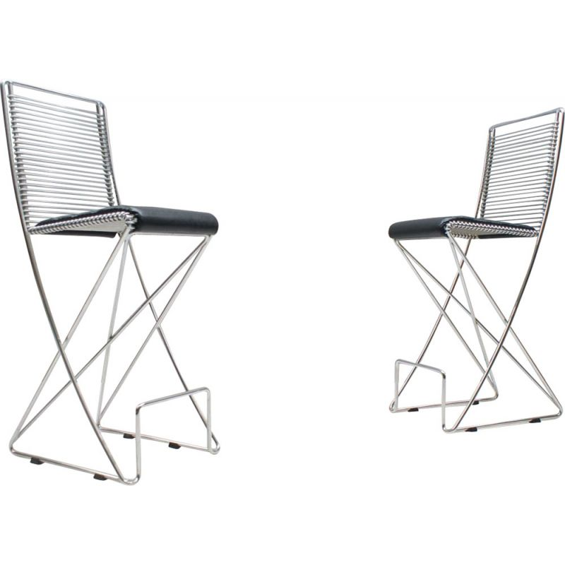 2 vintage dining chairs by Till Behrens,Germany,1980