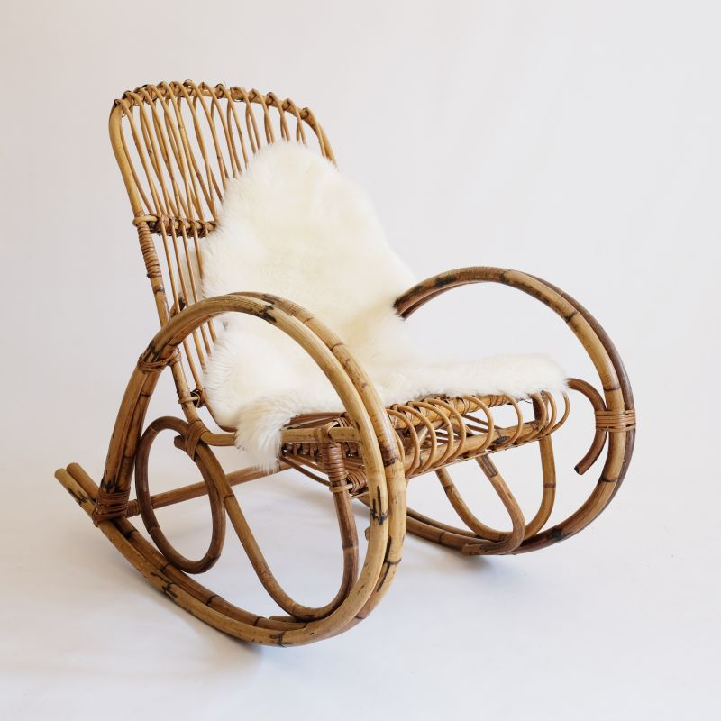 Fabulous Vintage Rocking Chair In Rattan Caraccident5 Cool Chair Designs And Ideas Caraccident5Info