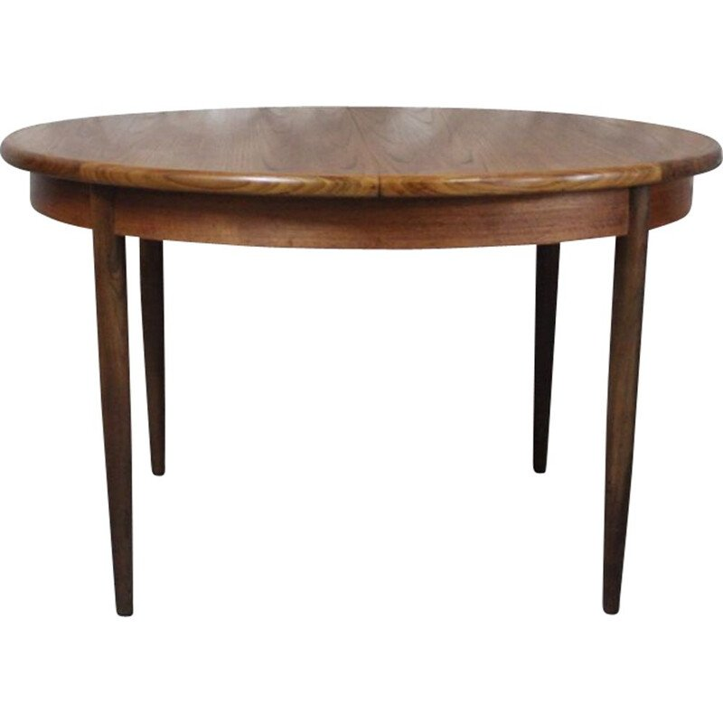 Vintage dining table teak round with extension Fresco by G-Plan 1960s