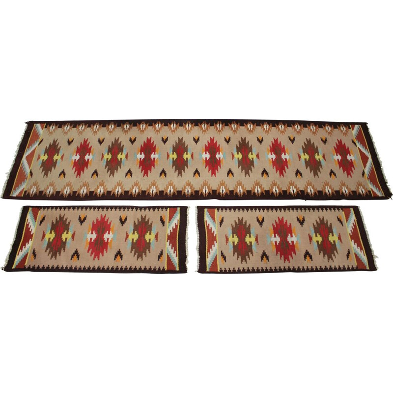 Set of three vintage rugs by Kelim, 1960