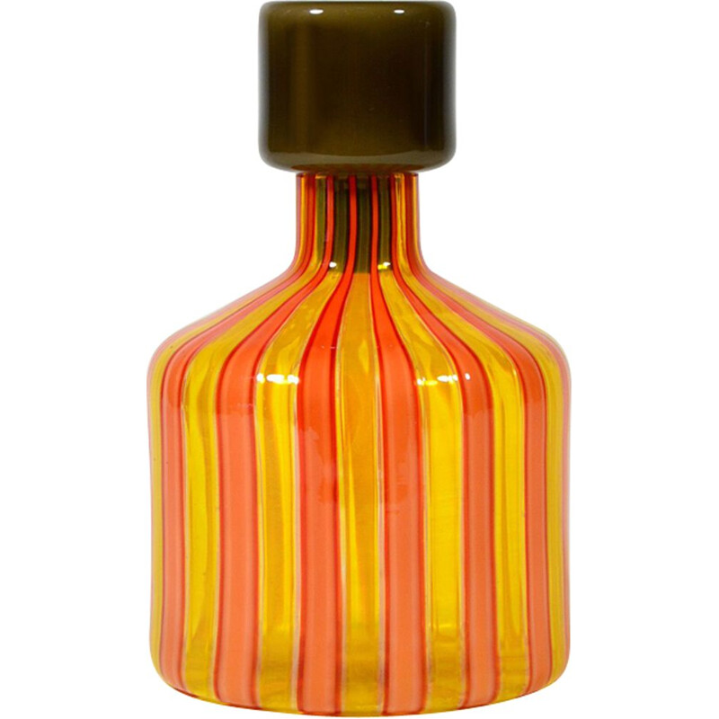 Vintage bottle in Murano glass Italy 1960s