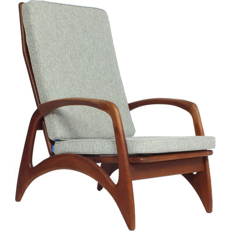Vintage lounge chair in teak by De Ster Gelderland