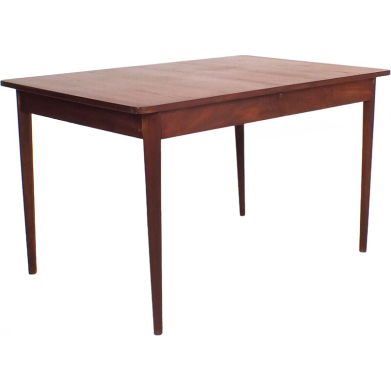 Vintage dining table in teak extendable 1960s