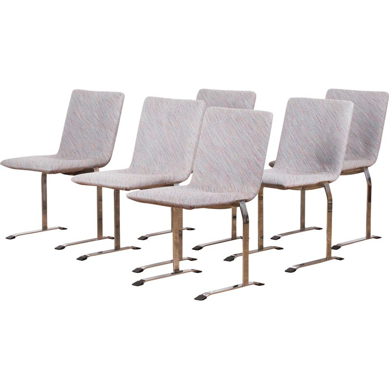 Set of 12 Inlay chairs by Giovanni Offredi for Saporiti